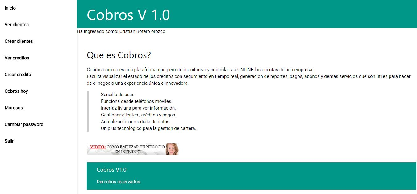 Software de Cobros